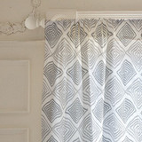 Hand Drawn Ikat Self-Launch Curtains