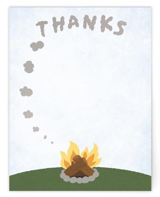 Smoke Signal Thank You Self-Launch Children's Flat Stationery