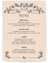Wedding Bouquet Menu Cards