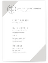 The Compass Menu Cards