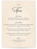 Elegant Lace Menu Cards