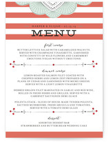 Striped Sweet Nothings Menu Cards