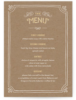 Hand Delivered Menu Cards