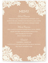 Lace and Kraft Menu Cards