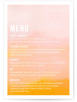 Ombre Menu Cards