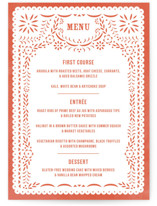 Fiesta Folk Art Menu Cards