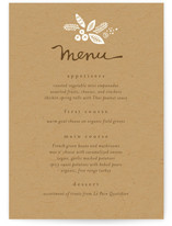 Rustic Harvest Menu Cards