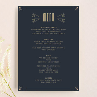 Elegantly Modern Menu Cards