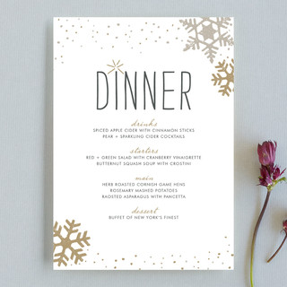 Silver and Gold Menu Cards