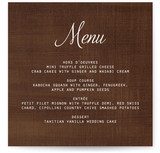 Chocolate Matrimony Menu Cards