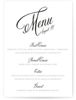 Traditional Royalty Menu Cards