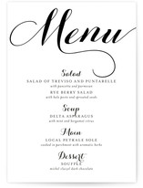 Formal wedding menus amp dinner party menu cards minted