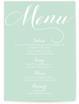 Simple Elegance Menu Cards