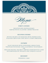 Ornamental Menu Cards