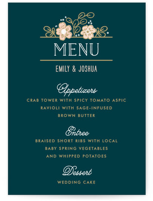 Country Florals Menu