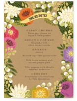 Floral Canopy Menu Cards