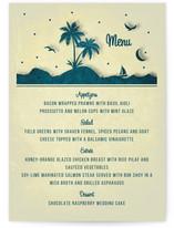 Love Island Menu Cards