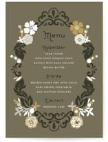 Floral Frame Menu Cards
