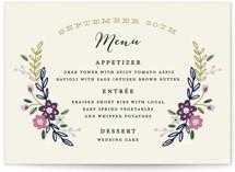 Wildflower Crest Menu Cards