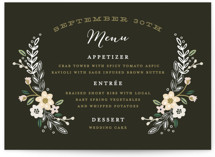 Wildflower Crest Menu Cards