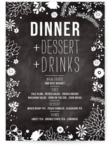 Craft and Florals Menu Cards