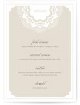 Grand Lace Menu Cards