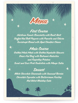 Retro Hawaii Menu Cards