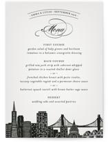 Big City - San Francisco Menu Cards