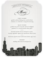Big City - Chicago Menu Cards