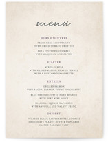 Light Hearted Menu Cards