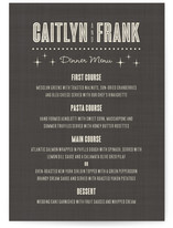 Lucky in Love Menu Cards