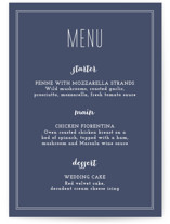 Down by the Sea Menu Cards