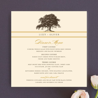 Oak Tree Menu Cards