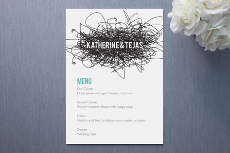 Lovenest Menu Cards