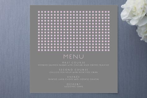 Swanky Hotel Menu Cards