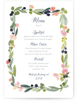 Watercolor Wreath Menu Cards