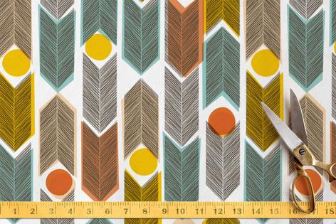 Warm Plains Pattern Fabric