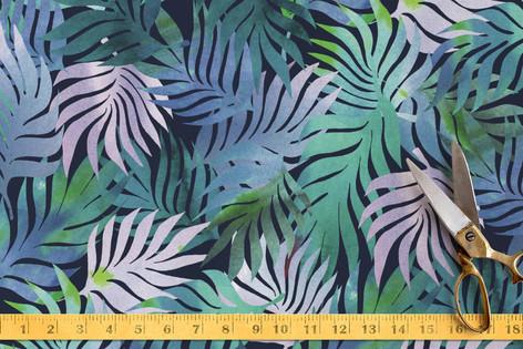 Night in a jungle Fabric