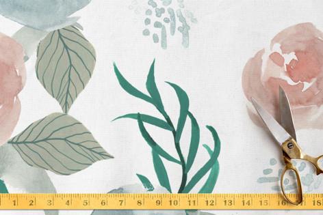 Pink Gardenia Fabric