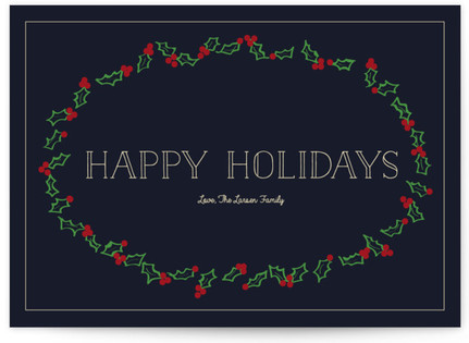Elegant Holly Frame Self-Launch Cards