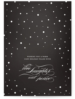 A Warm Cozy Holiday Self-Launch Cards