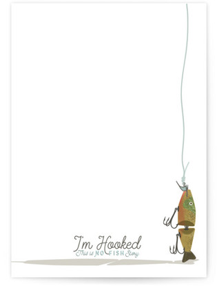 I'm Hooked Stationary! Self-Launch Cards