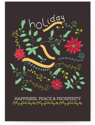 Happiness, Peace & Prosperity Self-Launch Cards