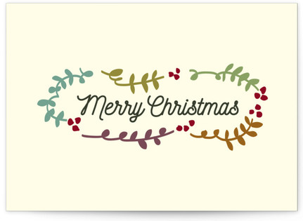Merry Christmas and Leaves Self-Launch Cards