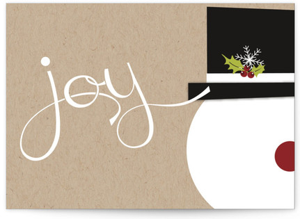 Snowman Joy Self-Launch Cards