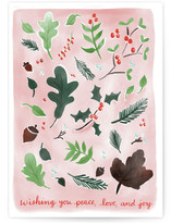 Pink Christmas Botanicals Cards