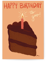 Birthday: Chocolate Cake Slice Cards