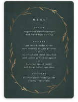 Oval Botanical Foil-Pressed Menus