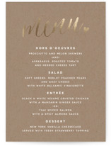 Charming Love Foil-Pressed Menus