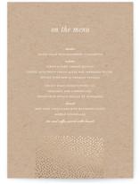 Delicate Dots Foil-Pressed Menus